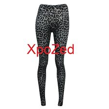 WOMEN'S GIRLS ANIMAL LEOPARD PRINT CELEBRITY VISCOSE LEGGINGS UK SIZE S/M M/L