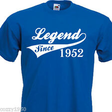 LEGEND SINCE 1952, FUNNY MENS TSHIRT62nd  BIRTHDAY PRESENT 7 COLOURS 6 SIZES