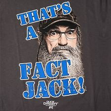 DUCK DYNASTY T-SHIRT HEY UNCLE SI COMMANDER ROBERTSON CALL THAT'S A FACT JACK