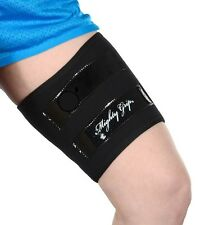 2 Black Inner Thigh Protectors for Pole Dancing with Tack strips by Mighty Grip