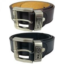 MENS LEATHER BELTS 1.5'' BELTS BY MILANO IN BLACK AND BROWN