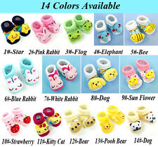 0-6 Month Unisex Baby Toddler Anti-slip Socks Animal Cartoon Slipper Shoes Boots