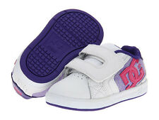 DC ® KIDS NET V UL WHITE PURPLE HOOK & LOOP CLOSURE INFANT/TODDLER SHOES * NEW