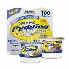 MHP Fit and Lean POWER PAK PUDDING Four 4.5 oz Puddings