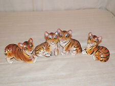 New African Bengal Tiger Cub Wild Cat Statue Figures 4 Styles to Choose Adorable