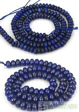 Natural Lapis Lazuli Gemstone Rondelle Beads 16'' Strand 5mm 6mm 8mm 10mm 12mm