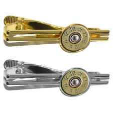 12 Gauge Spent Shell Bullet (Image Only) Ammo Gun Round Tie Bar Clip Clasp Tack