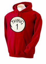 Dr. Seuss THING~1 2 3 4 5 6 SWEATSHIRT~Hoodie,CAT IN THE HAT,FUNNY,ADULT~THING