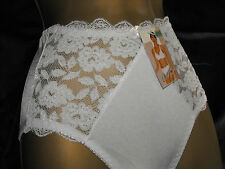 Elegant FULL BUM KNICKERS White 8 10 Small 14 16 Large 22/24 XXL Shop Soiled