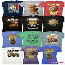 Ted The Movie T-Shirt Thunder Buddies Dope Charles Adult Tee Licensed S-2XL
