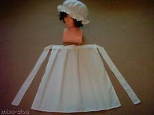 LADIES FANCY DRESS COSTUME SHORT APRON & MOP CAP victorian tudor edwardian WW1