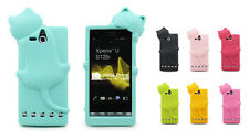 New Cute Cat Soft Silicone 3D Case Skin Cover For Sony Xperia U ST25i Protector