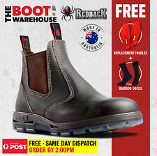 Redback USBOK Work Boots. Steel Toe Cap Safety . Elastic Sided Bobcat. NEW!