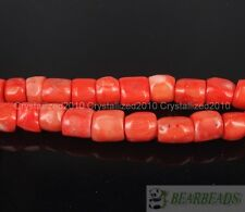 Natural Coral Gemstone 12mm - 13mm Chunky Tube Beads Spacer 16 Inches Strand