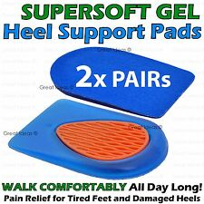 2 x Gel Heel Spur Support Insoles Pads Inserts Foot Plantar Orthotic Pain Relief