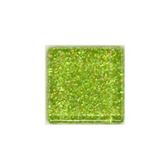 1/2 LB LIME RAINBOW GLITTER CRYSTAL TILES