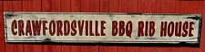 Personalized BBQ Rib House - Rustic Hand Made Vintage Wooden Sign