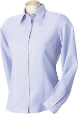 Harvard Square Ladies Five Star Performance Oxford Long Sleeve Button Down New