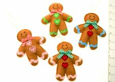 Hanging Felt Fabric Gingerbread Man Gift Decoration For Home Or Bedroom