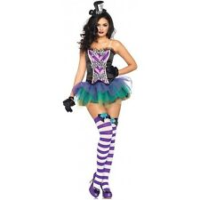 Mad Hatter Costume Women Sexy Adult Alice in Wonderland Halloween Fancy Dress