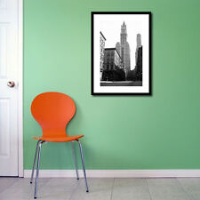 WORLD FAMOUS WOOLWORTH BUILDING NEW YORK CITY FRAMED PRINT GLOSS PHOTO PICTURE