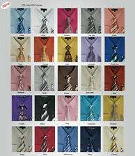 Milano Moda Men's Dress Shirt with Tie and Handkerchief 25 different colors