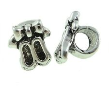 Ballet Dance Shoes European Charm Bead Silver Plated Alloy Hobbies Interests 1PC