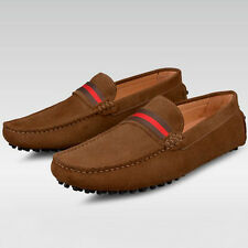 US5-10 Suede Leather SLIP-ON Comfort penny driving Loafer mens boat shoes  [JG]