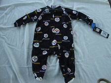 Pittsburgh Steelers Newborn  Infant Full Zip Footed Pajama Sleeper Coverall NWT