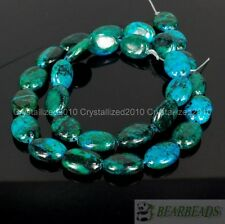 Chrysocolla Gemstone Oval Loose Spacer Beads 16 inches Strand 10x14mm 13x18mm
