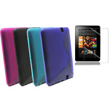 """Fosmon Protector Rubber Case Cover for Amazon Kindle Fire HD 7 7"""" 4 COLORS 2IN1"""