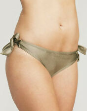 Figleaves Swimwear Fortune Bikini Bottoms Brief Khaki Tie Side