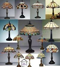 COLLECTION OF MEDIUM SIZE TIFFANY STYLE HANDCRAFTED TABLE LAMPS