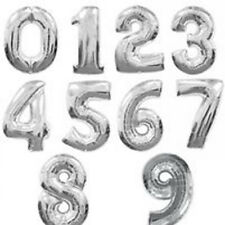 "16"" 40"" FOIL NUMBERS LARGE HELIUM NUMBER BALLOON 0-9 gold silver"