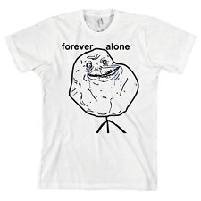 Forever Alone Bella + Canvas T Shirt Internet Meme 4chan *ALL SIZES & NEW*