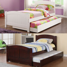 NEW Daybed with Trundle in White, Cherry Bedroom Furniture Twin Bed 12 / 12 Slat