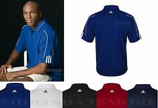 ADIDAS GOLF Mens Sleeve Stripe Moisture Wicking Polo Sport Shirt S- 2XL 3XL