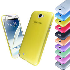 New Transparent Ultra Thin Case Cover FOR Samsung Galaxy Note 2+Screen Protector