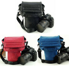 Waterproof Camera Shoulder Carry Bag Insert Padded Leather Bag For DSLR Canon