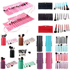 Makeup Brush Set 8/12/13/22/24 PCS Cosmetic Brushes Kit Cup Holder/Leather Case