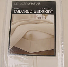 "Tailored Bedskirt Twin/Full/Queen/King-14"" Skirt -Smoothweave-Chocolate/Ivory"
