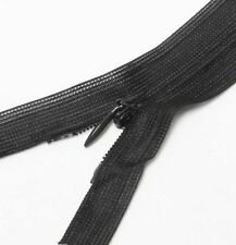 "Wholesale 1-1000 Zippers 22""/56cm Black Closed End Invisible/ hidden zip Long"