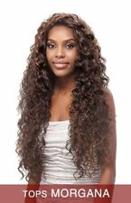 TOPS MORGANA BY VANESSA SYNTHETIC LACE FRONT WIG EXPRESS HEAT WAVE LONG CURLY