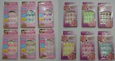 12 PACK -  FRENCH RUNWAY SPARKLE GLITTER  NAIL FALSE FAKE NAILS  W/ GLUE + FILE