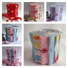 jelly roll fabrics strips, quilting, sewing patch crafts 100 % cotton from £1.19