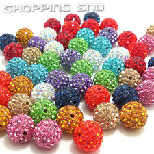 Quality! Czech Crystal Rhinestones Pave Clay Disco Ball Spacer Beads 20PCS DIY