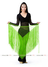 13 color Hand hook Long Tassels Triangle Hip Scarf Belly Dance Costume