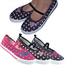 Girls women canvas pumps slippers shoes sequin size 11.5 12 13 1 1.5 3 New