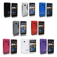 Soft Rubber Gel S Line TPU Silicone Case Cover Gel Skin for HTC ONE M7