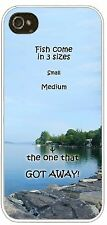 Personalized  iphone case cover 4 5 any name Fish in 3 sizes one that got away